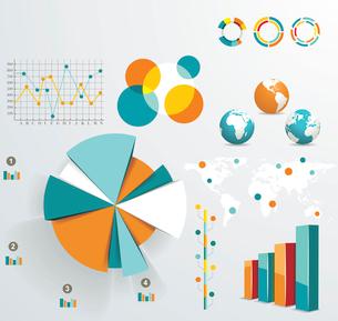 Set elements of infographicsのイラスト素材 [FYI03068454]