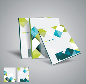 Vector  brochure template design with cubes and arrows elements. EPS 10のイラスト素材 [FYI03068464]