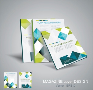 Vector  brochure template design with cubes and arrows elements. EPS 10のイラスト素材 [FYI03068465]
