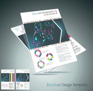 Magazine cover layout design vectorのイラスト素材 [FYI03068468]