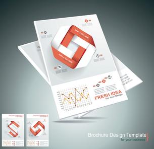 Magazine cover layout design vectorのイラスト素材 [FYI03068474]