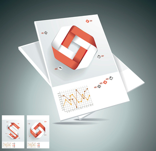 Magazine cover layout design vectorのイラスト素材 [FYI03068475]