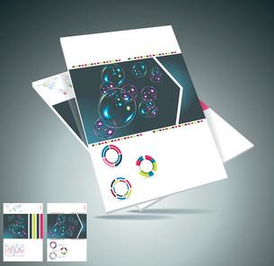 Magazine cover layout design vectorのイラスト素材 [FYI03068477]
