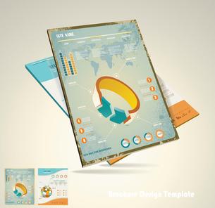 Magazine cover layout design vectorのイラスト素材 [FYI03068479]