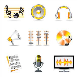 Vector - Shiny 3d   music symbols. . music symbols.のイラスト素材 [FYI03068507]