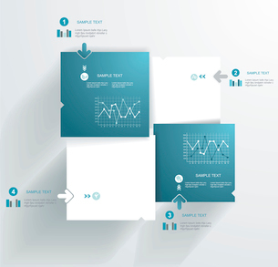 Modern Design template. Can be used for infographics.のイラスト素材 [FYI03068542]