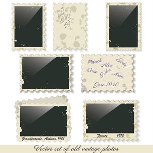 Vector instant photo frames set. photo framesのイラスト素材 [FYI03068569]