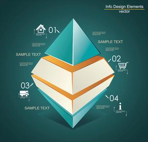 Abstract Infinite Rhombus logo template. Corporate icon. Infographics elements.のイラスト素材 [FYI03068596]