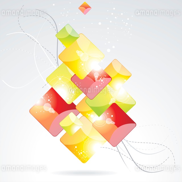abstract vector backgrounds with color glass rombs. abstract vector backgroundsのイラスト素材 [FYI03068611]