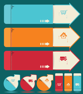 Vintage Labels template set. Sale, discount theme. Retro logo template design.のイラスト素材 [FYI03068612]