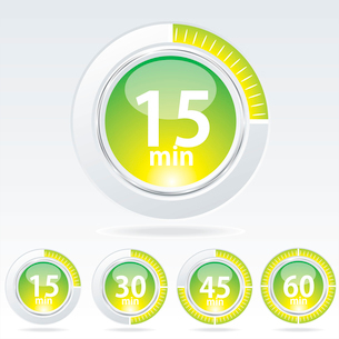 Vector timer - easy change time every one minute . Vector timerのイラスト素材 [FYI03068698]