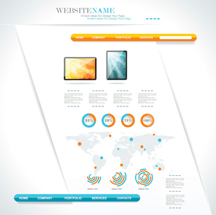 modern web site editable templateのイラスト素材 [FYI03068735]