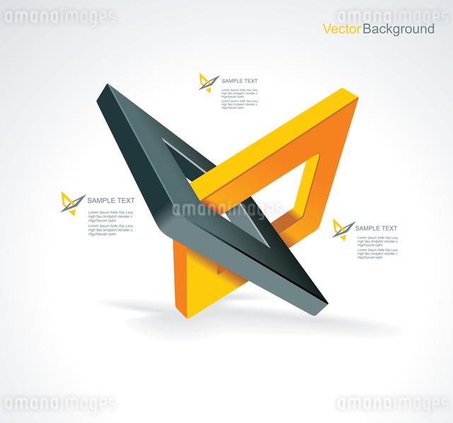 Illustration with orthogonal rhomb symbols.Unity concept.Vector.のイラスト素材 [FYI03068800]