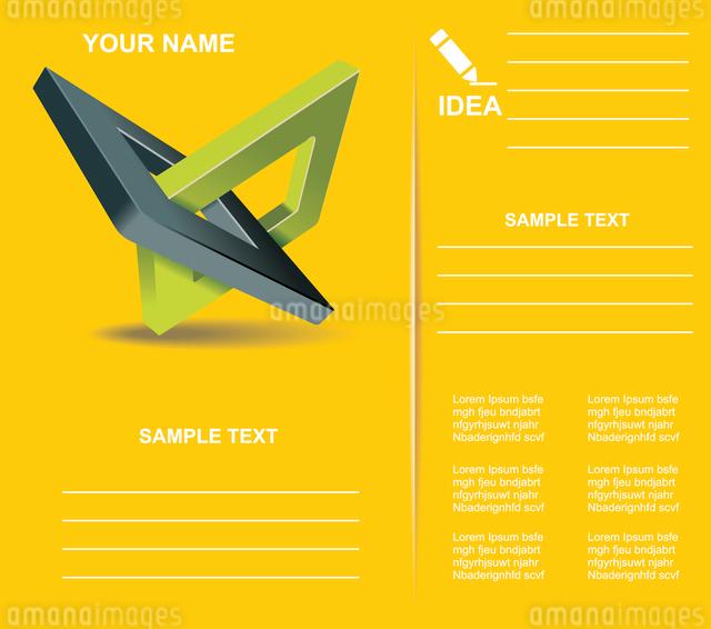 Brochure design  with orthogonal rhomb symbols.のイラスト素材 [FYI03068801]