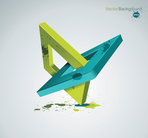 Illustration with orthogonal rhomb symbols.Unity concept.Vector.のイラスト素材 [FYI03068805]