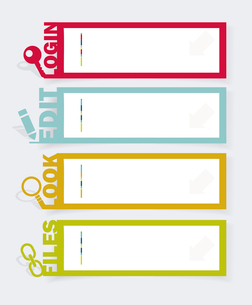 Web panel Set. Infographics number options template. Vector.のイラスト素材 [FYI03068876]