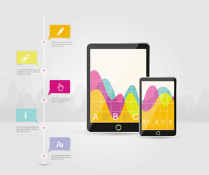 Digital Tablets Infographic Elements, IT Industry Design.のイラスト素材 [FYI03068890]