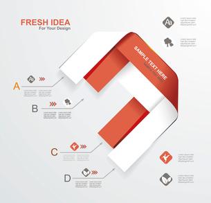 Minimal infographics design. Vector illustration.のイラスト素材 [FYI03068908]