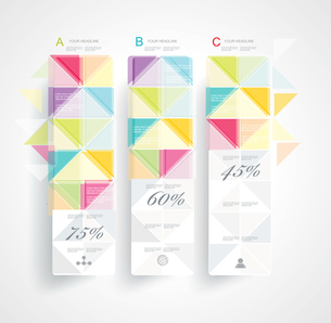 Abstract Minimal Ifographic Design on rhombus style . Can be used for infographics, numbered bannersのイラスト素材 [FYI03068920]