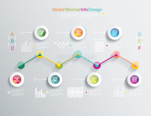 Time Line design template with diagram set. Idea to Display information,  Steps for industrial factoのイラスト素材 [FYI03068933]