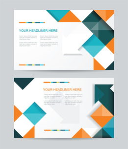 Vector template design with cubes and arrows elements. Brochure or banners or business card design.のイラスト素材 [FYI03068948]