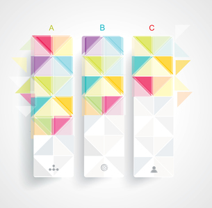 Abstract Minimal Ifographic Design on rhombus style . Can be used for infographics, numbered bannersのイラスト素材 [FYI03068999]