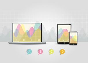 Digital Tablets Infographic Elements, IT Industry Design.のイラスト素材 [FYI03069003]