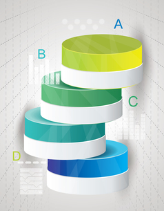 Abstract Minimal Ifographic Design on cylinder style. Can be used for infographics, numbered optionsのイラスト素材 [FYI03069009]
