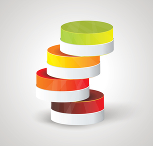 Abstract Minimal Ifographic Design on cylinder style. Can be used for infographics, numbered optionsのイラスト素材 [FYI03069012]