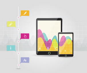 Digital Tablets Infographic Elements, IT Industry Design.のイラスト素材 [FYI03069014]