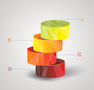 Abstract Minimal Ifographic Design on cylinder style. Can be used for infographics, numbered optionsのイラスト素材 [FYI03069026]
