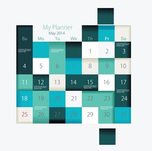 Calendar to schedule monthly, convenient plannerのイラスト素材 [FYI03069043]