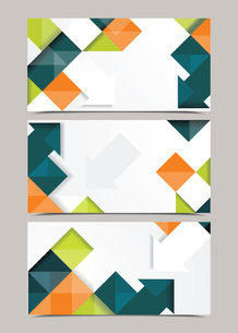 Vector template design with cubes and arrows elements. Brochure or banners or business card design.のイラスト素材 [FYI03069083]