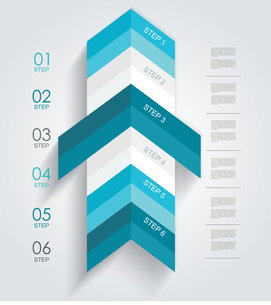 Minimal infographics or Step banners template in Arrow style. Vector.のイラスト素材 [FYI03069150]