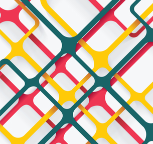 Seamless Geometric Pattern. Cellular texture. Repeating abstract backgroundのイラスト素材 [FYI03069162]