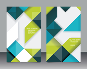 Vector brochure template design with cubes and arrows elements.のイラスト素材 [FYI03069167]