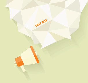 Flat vector icon of megaphone with bubble speech for social media marketing conceptのイラスト素材 [FYI03069183]