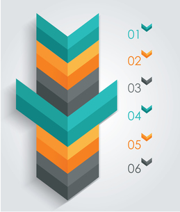 Minimal infographics or Step banners template in Arrow style. Vector.のイラスト素材 [FYI03069199]