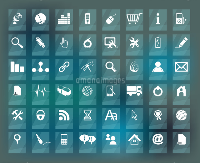 Quality icon Set (Service, Medical, Media, Mail, Mobile, ,Web , Camping icons, Butterfly)のイラスト素材 [FYI03069221]