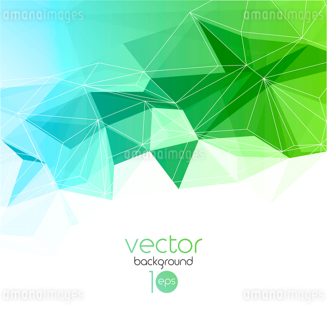Vector color abstract geometric banner with triangle.のイラスト素材 [FYI03069403]