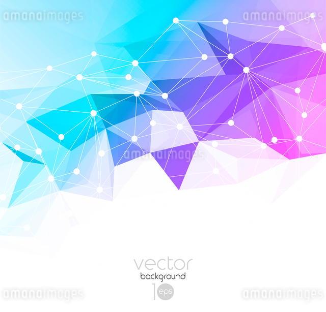 Vector color abstract geometric banner with triangle.のイラスト素材 [FYI03069409]
