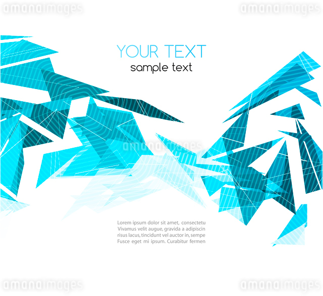 Vector color abstract geometric banner with triangle.のイラスト素材 [FYI03069444]