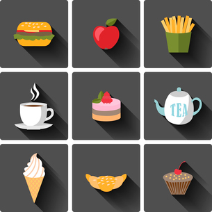 Food and dring icons set vector illustrationのイラスト素材 [FYI03069594]