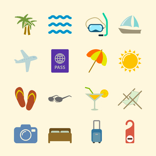 Set of holidays icons, design elements in contrast color isolated vector illustrationのイラスト素材 [FYI03069600]