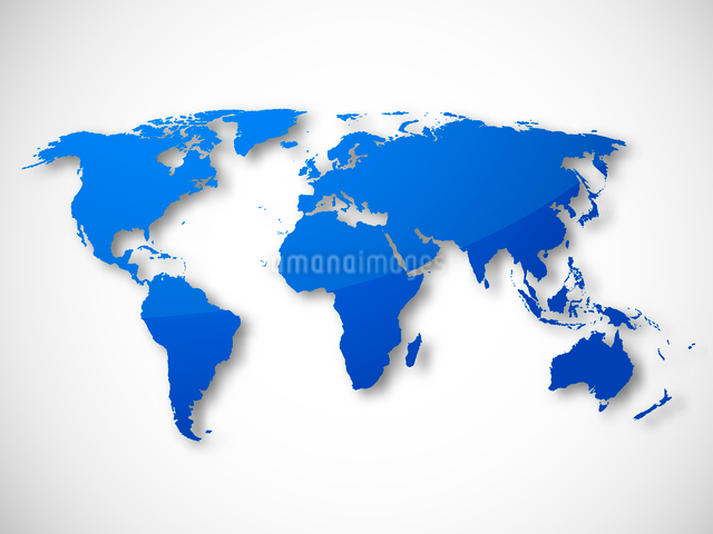 World map isolated design template vector illustrationのイラスト素材 [FYI03069635]