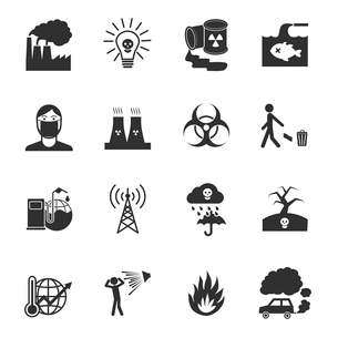 Pollution toxic environment damage and contamination isolated vector illustrationのイラスト素材 [FYI03069846]