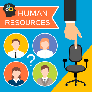 Human resources recruiting planning job business concept with office chair abstract vector illustratのイラスト素材 [FYI03070023]
