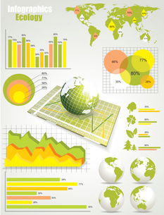 ecology info graphics collectionのイラスト素材 [FYI03070663]