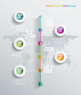 Minimal infographics design. Can be used for workflow layout, diagram, web design.のイラスト素材 [FYI03070690]
