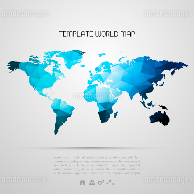 Abstract background with vector world mapのイラスト素材 [FYI03070709]